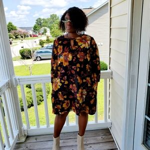 Beige by ECI Floral Tunic Dress Size  XL